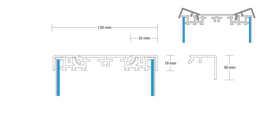 DIA-Leuchtkasten beidseitig konfigurieren