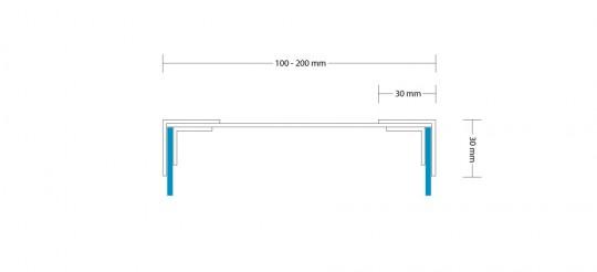 PROFIL 4 BEIDSEITIG 100-200 MM