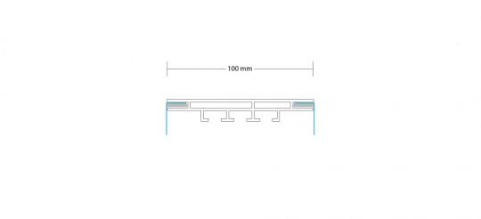 1-TEXTILRAHMEN BEIDSEITIG 100 MM