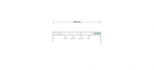 2-TEXTILRAHMEN EINSEITIG 100 MM