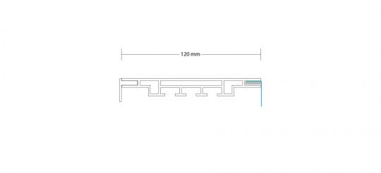 3-TEXTILRAHMEN EINSEITIG 120 MM